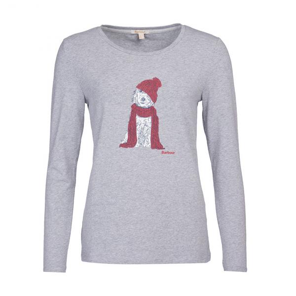 Barbour Fareham L/S Womens T-Shirt Grey
