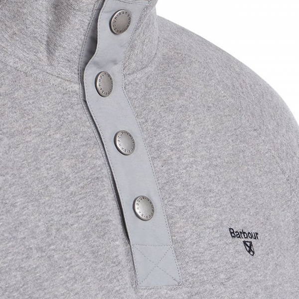 Barbour Half Snap Sweat Grey Marl