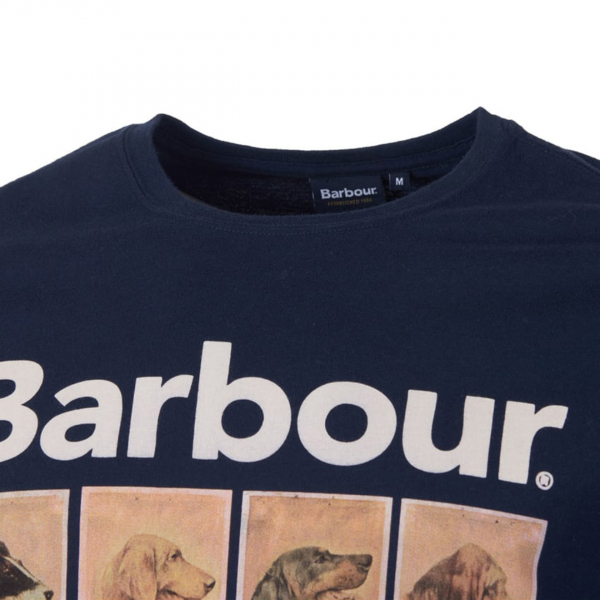 Barbour Hounds Graphic T-Shirt Navy