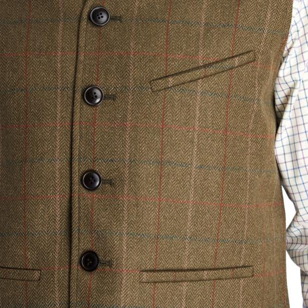 Barbour Moorhen Waistcoat Olive Check