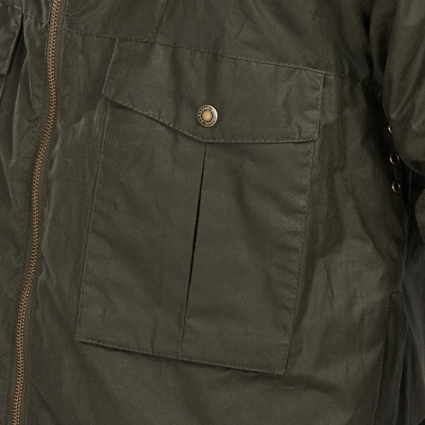 Barbour Opus Wax Jacket Archive Olive