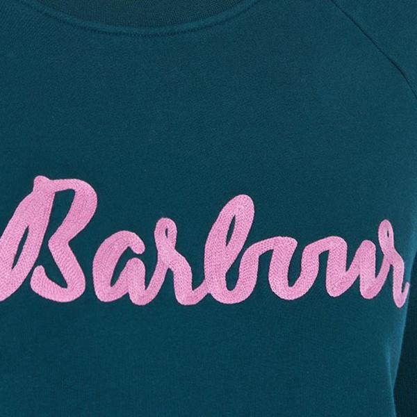 Barbour Otterburn Overlayer Womens Sweat Isle Green