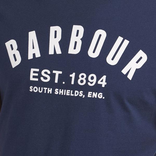 Barbour Ridge Logo T-shirt Navy