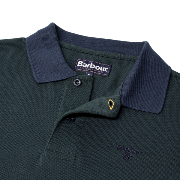 Barbour Sports Polo Mix Dark Seaweed