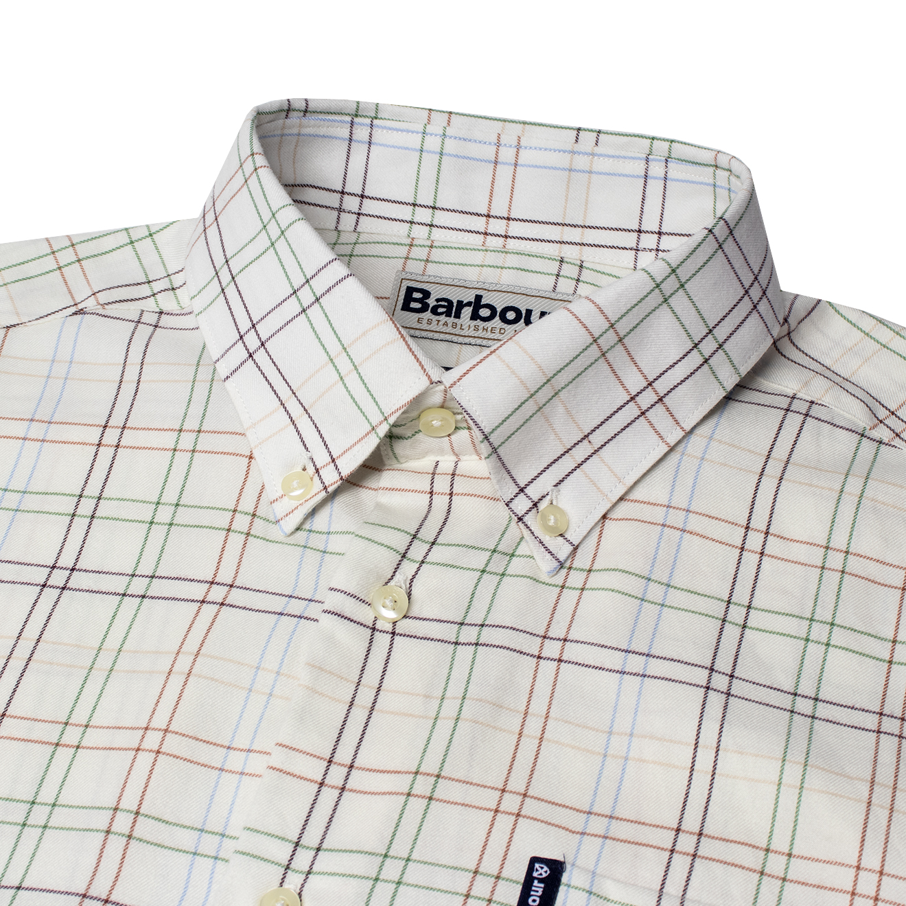 Barbour Tailored Fit Tattersall 20 Shirt Brown   The ...