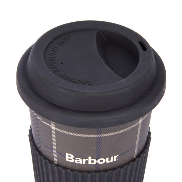 Barbour Tartan Travel Mug Monochrome