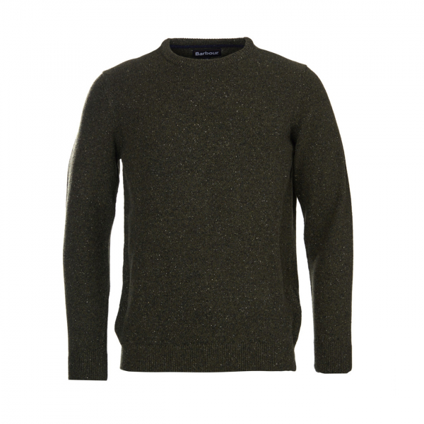 Barbour Tisbury Crew Neck Sweater Dark Seaweed