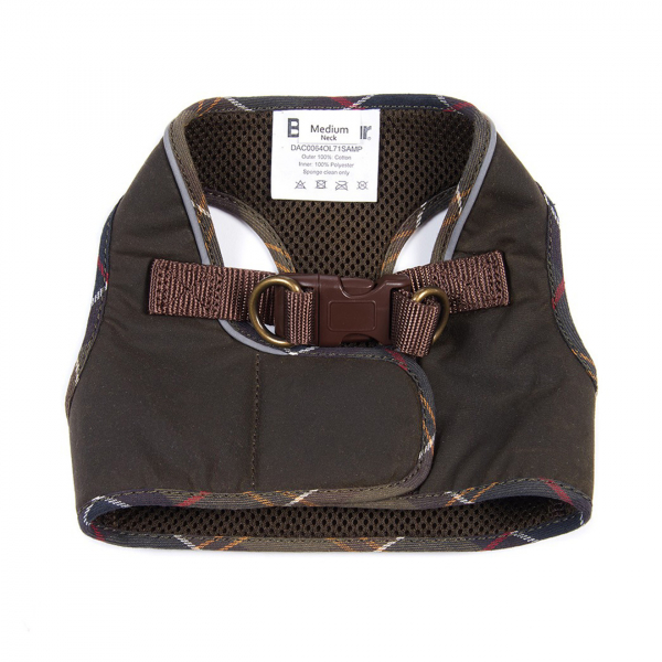 Barbour Wax Step-In Dog Harness Olive
