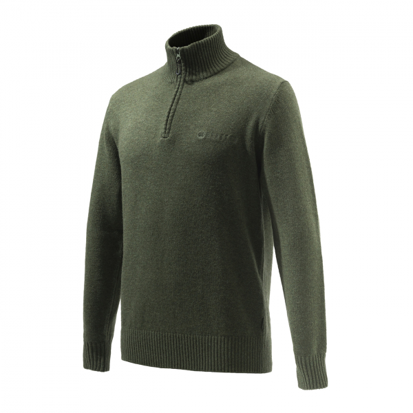 Beretta Dorset Half Zip Sweater Green