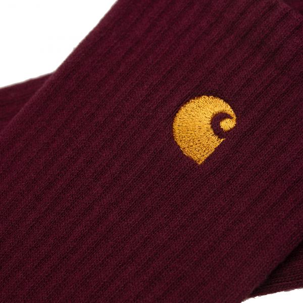 Carhartt Chase Socks Bordeaux / Gold