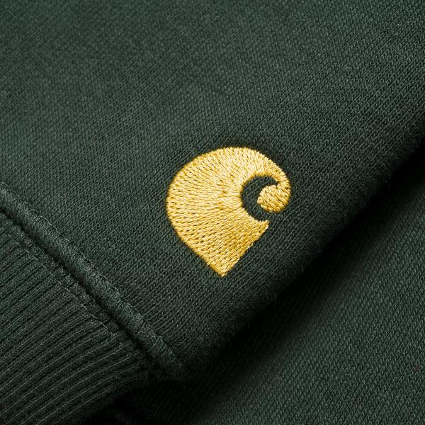 Carhartt Chase Sweat Dark Teal / Gold