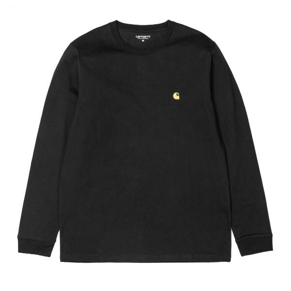 Carhartt Chase L/S T-Shirt Black/Gold