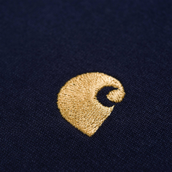 Carhartt Chase T-Shirt Dark Navy / Gold