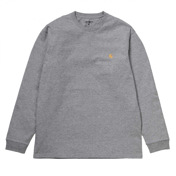 Carhartt Chase L/S T-Shirt Grey Heather/Gold