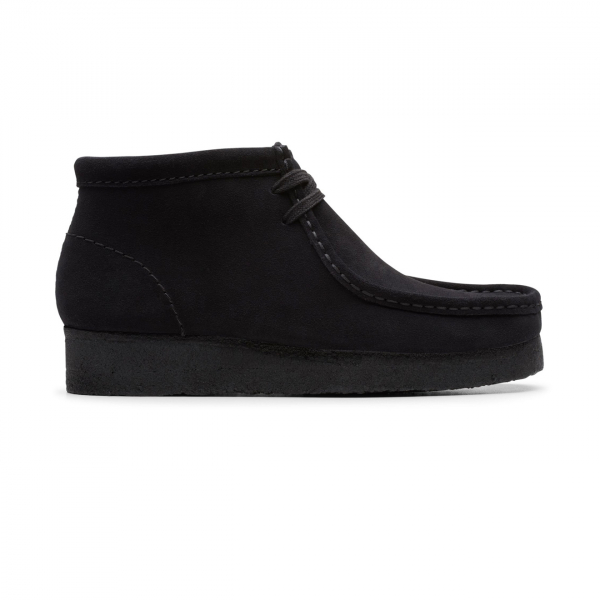 Clarks Originals Womens Wallabee Boot Black Suede