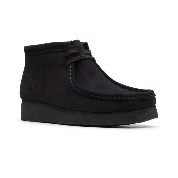 Clarks Originals Womens Wallabee Boot Black Suede