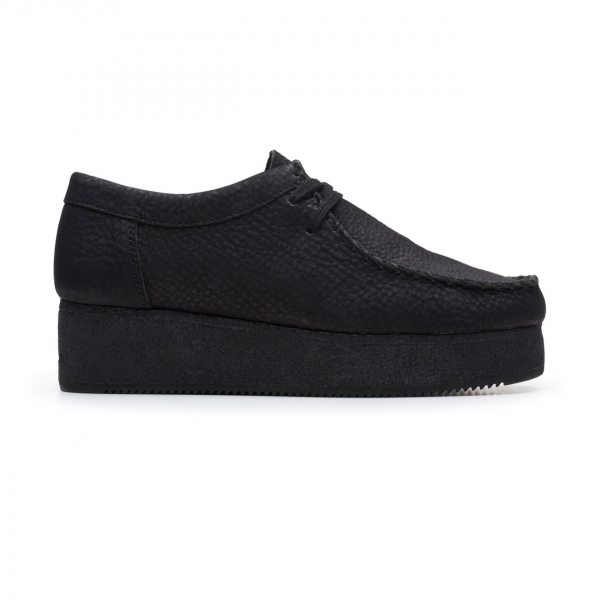 Clarks Originals Womens Wallacraft Lo Shoes Black Nubuck