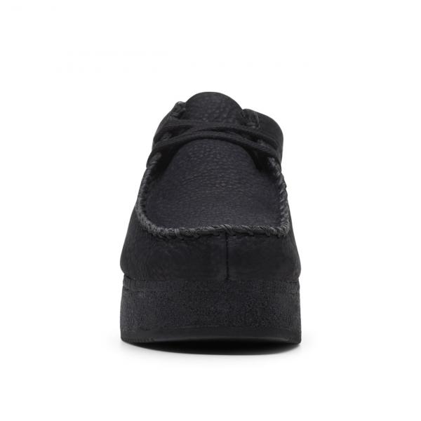 Clarks Originals Womens Wallacraft Lo Shoes Black Nubuck