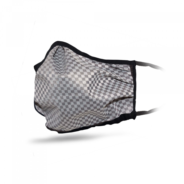Hanwag Face Covering Eco-Shell Black Check