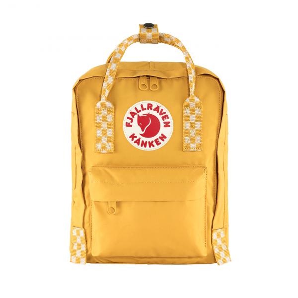 Fjallraven Kanken Mini Backpack Ochre / Chess Pattern