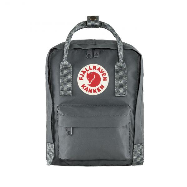 Fjallraven Kanken Mini Backpack Super Grey / Chess Pattern