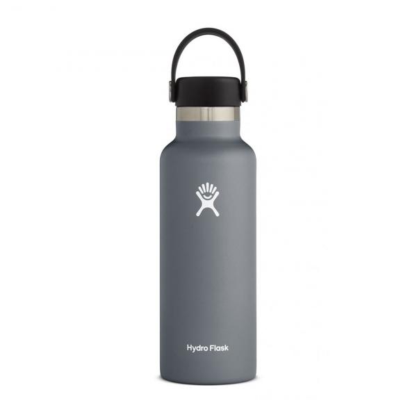 Hydro Flask 18oz Standard Mouth Bottle Stone