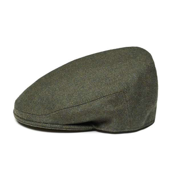 James Purdey Short Peak Litton Tweed Cap Glenwherry