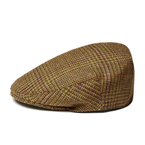 James Purdey Short Peak Litton Tweed Cap Stuart