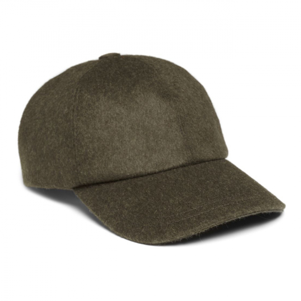 James Purdey Loden Baseball Cap Khaki Green