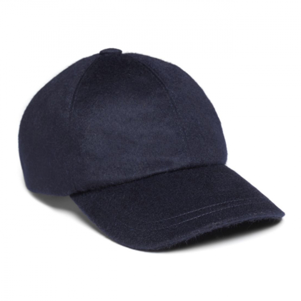 James Purdey Loden Baseball Cap Navy