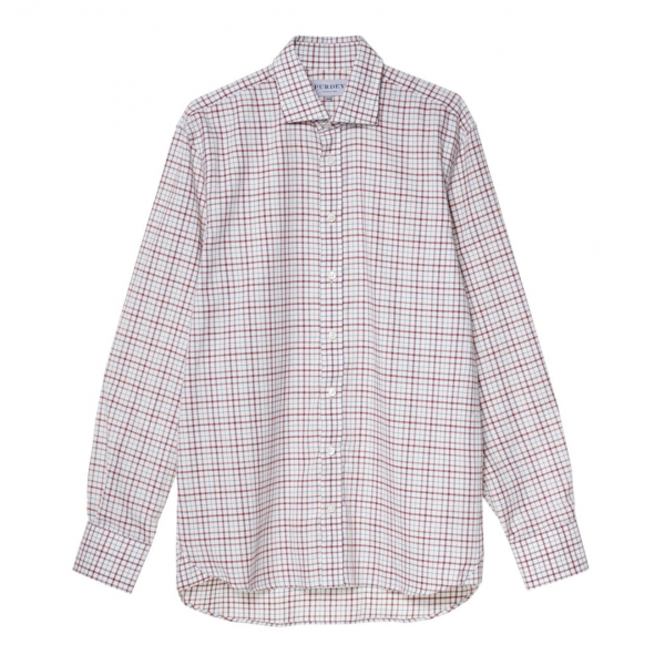 James Purdey Multi Check L/S Shirt Multi Red