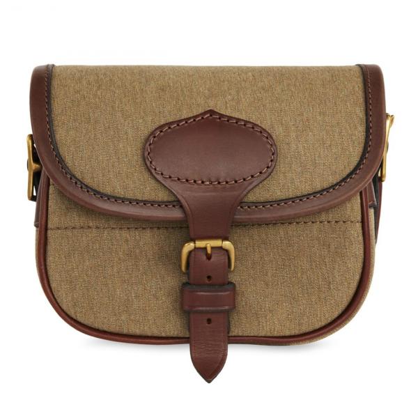 James Purdey Nettle Cotton Canvas Cartridge Bag 100c Moss Green