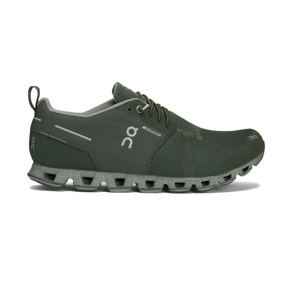 On Running Cloud Waterproof Running Trainer Forest / Lunar