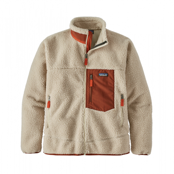 Patagonia Classic Retro-X Fleece Jacket Natural / Barn Red