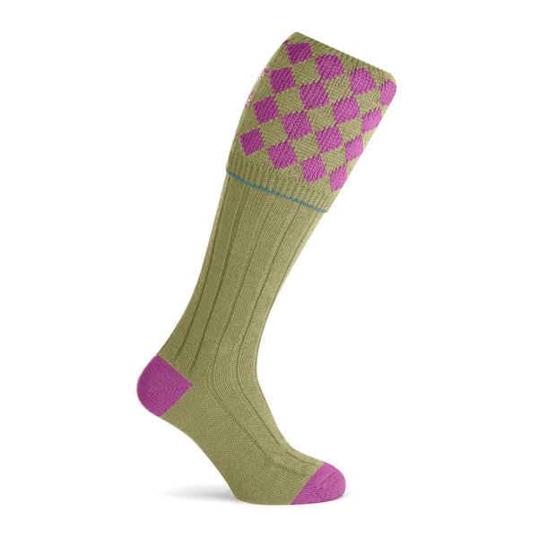 Pennine Kendal Shooting Sock Fuschia