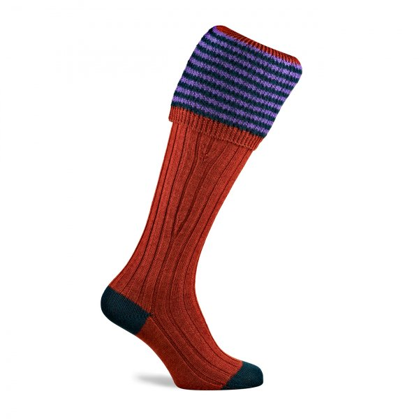 Pennine Lancaster Shooting Sock Maple