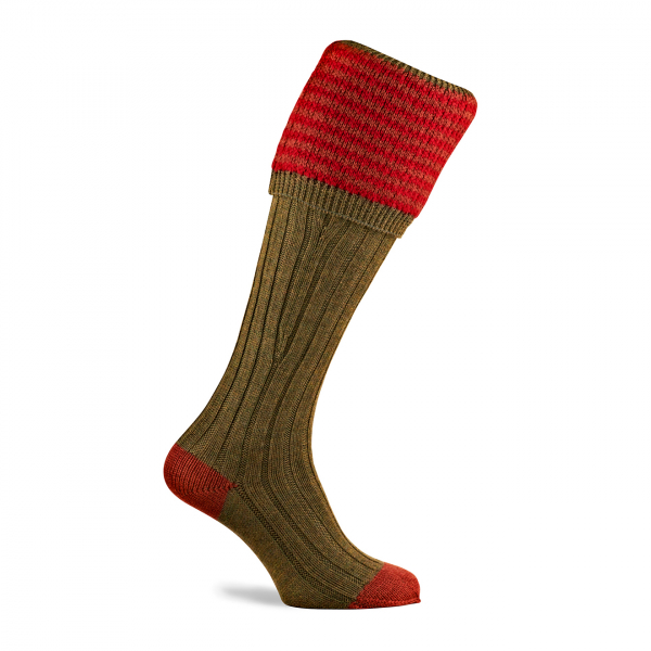 Pennine Lancaster Shooting Sock Old Sage
