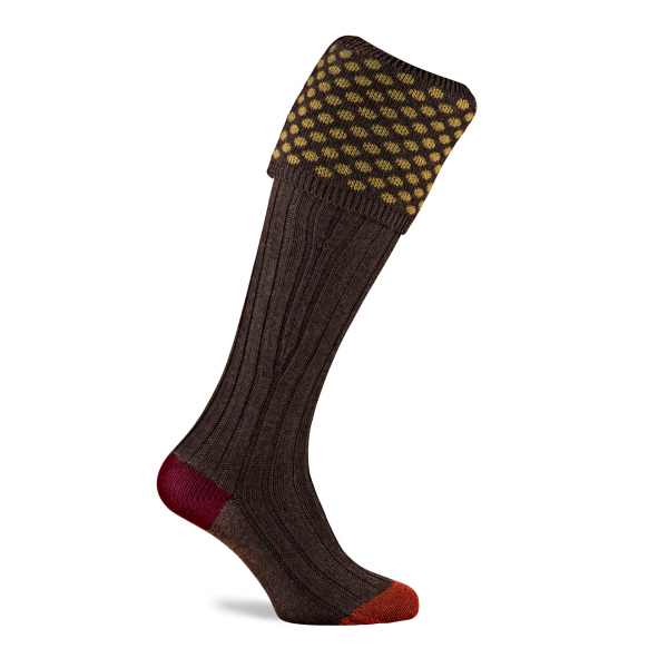 Pennine Viceroy Shooting Sock Mocha