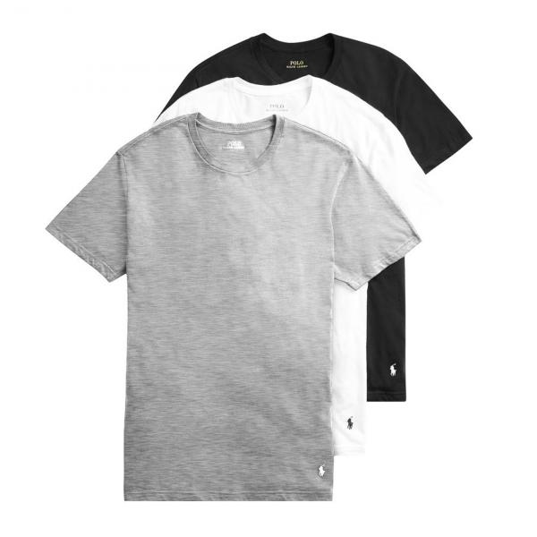 Polo Ralph Lauren 3 Pack T-Shirts White / Grey / Black