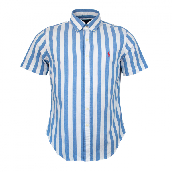Polo Ralph Lauren Beach Poplin Shirt Blue / White Stripe