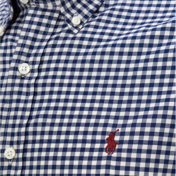 Polo Ralph Lauren Natural Stretch Poplin Shirt Navy / White