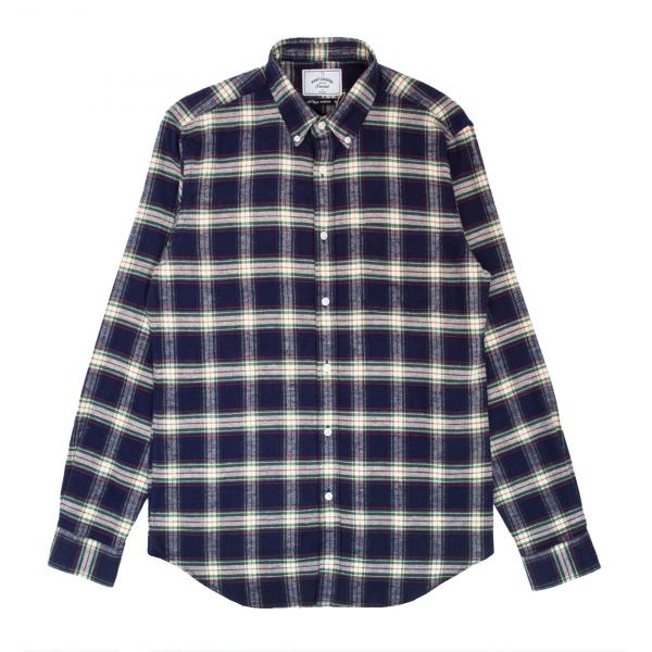 Portuguese Flannel Blue Square Flannel Check BD Blue/Green/Red
