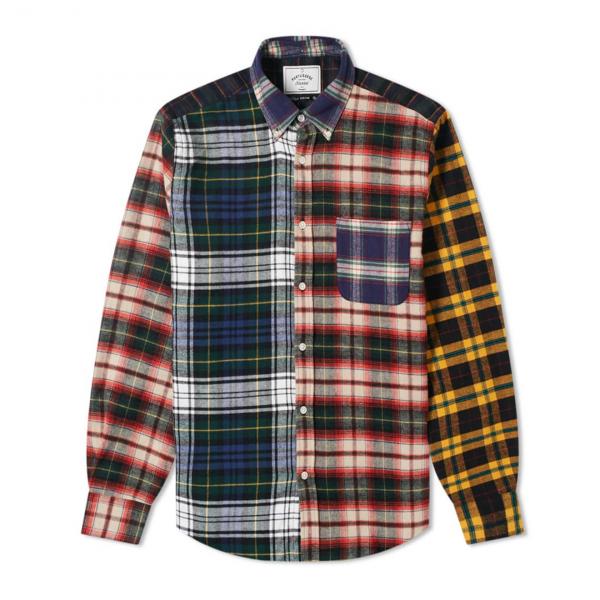 Portuguese Flannel Patch Long Sleeve Shirt BD Multi