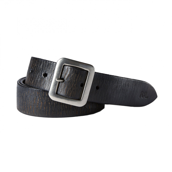 RRL by Ralph Lauren Burlington Belt Black / Silver