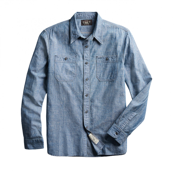 RRL by Ralph Lauren Cameron Workshirt Chambray L/S Rinse