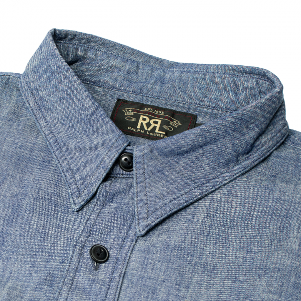 RRL by Ralph Lauren Cameron Workshirt Chambray L/S Rinse
