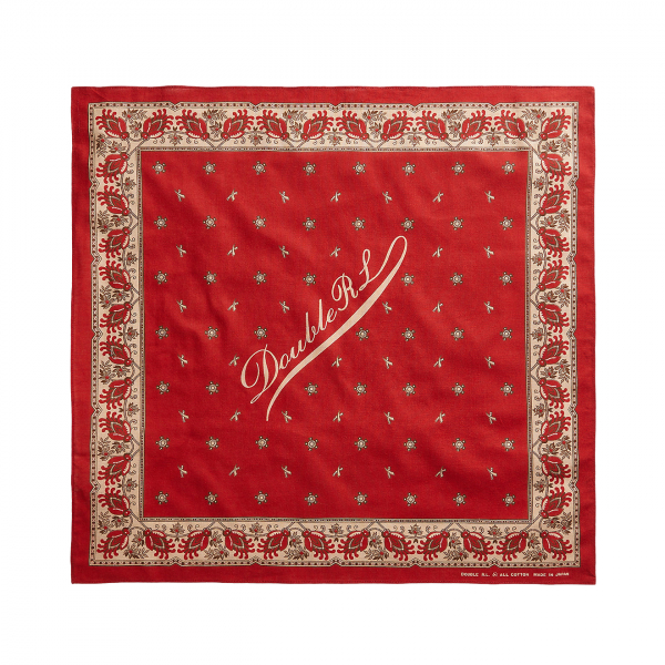 RRL by Ralph Lauren Robbin Bandana Turkey Red / Cream