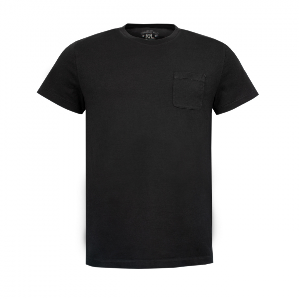 RRL by Ralph Lauren S/S Crew With Pocket Tee Faded Black Canvas