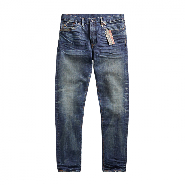RRL by Ralph Lauren Slim Narrow Fit Stretch Denim Blue
