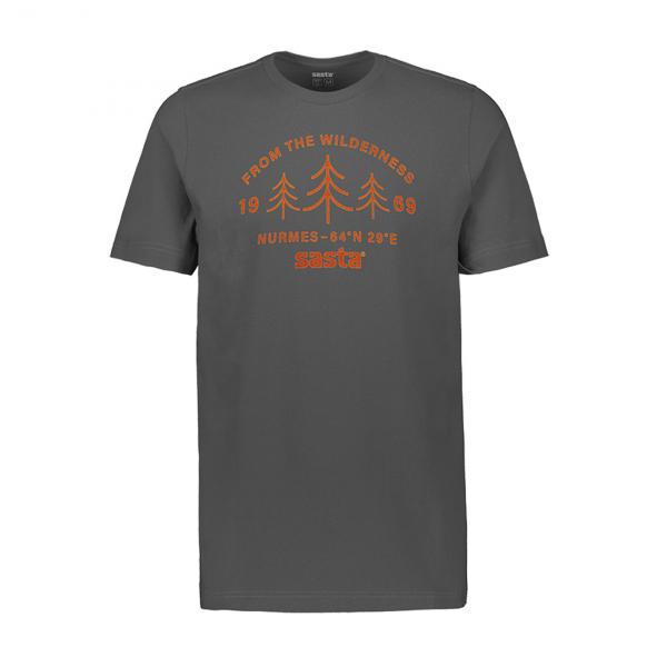 Sasta Wilderness S/S T-Shirt Dark Grey